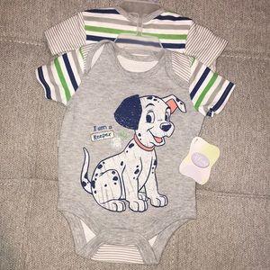 NWT Baby Boy Newborn Disney Bodysuits Dalmatian